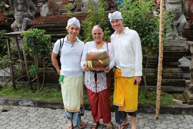 At Tirta Empul with Clem and Matthew copy
